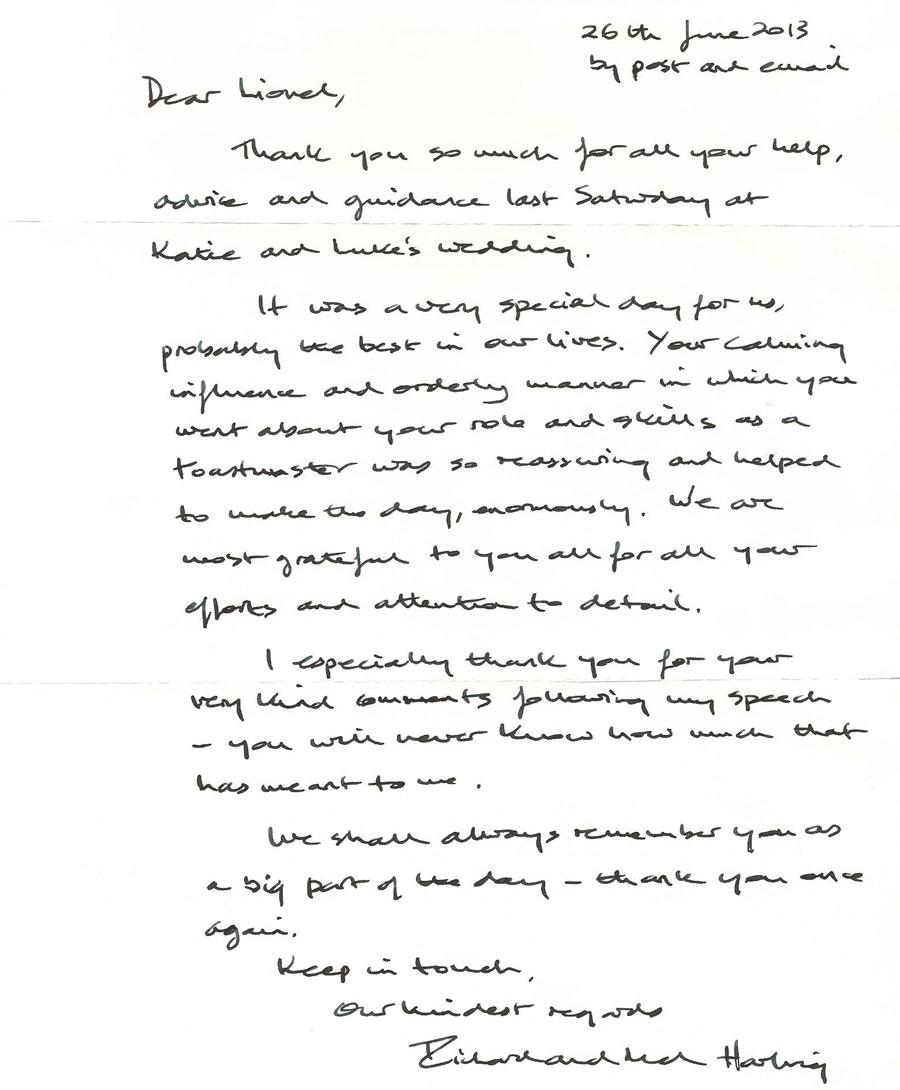Richard-Letter